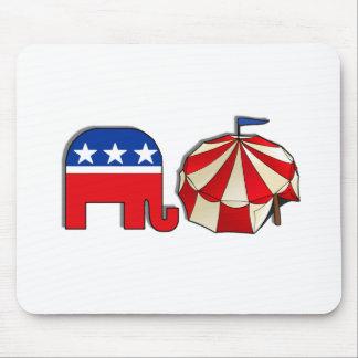 Elefante republicano del circo tapete de ratón