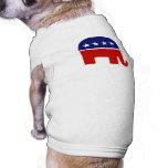 Elefante republicano del elefante/GOP Camiseta De Perrito