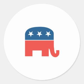 Elefante republicano etiquetas redondas