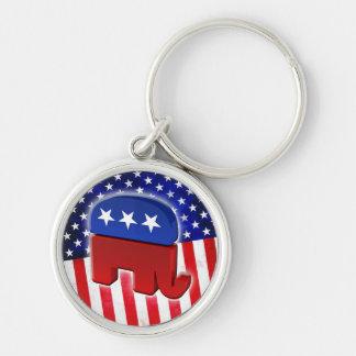 Elefante republicano llaveros