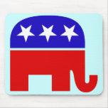 Elefante republicano Mousepad Tapetes De Ratón