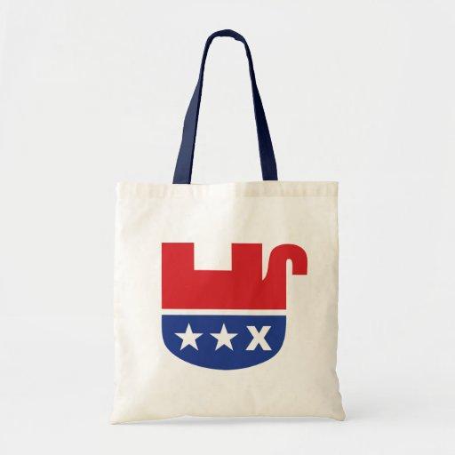 Elefante republicano muerto bolsa tela barata