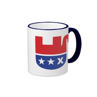 Elefante republicano muerto taza a dos colores