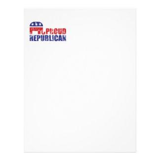 Elefante republicano orgulloso apenado membrete a diseño