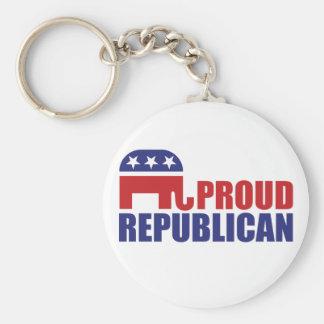 Elefante republicano orgulloso llaveros personalizados