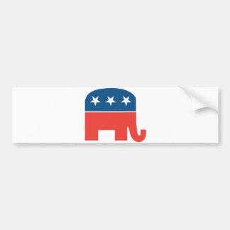 Elefante republicano pegatina para auto
