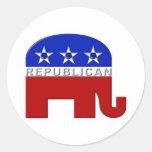 Elefante republicano pegatinas redondas