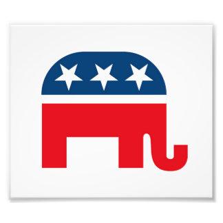Elefante republicano impresión fotográfica