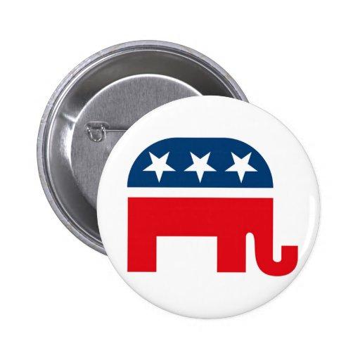 Elefante republicano pins