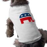 Elefante republicano playera sin mangas para perro