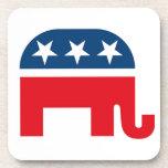 Elefante republicano posavasos de bebida