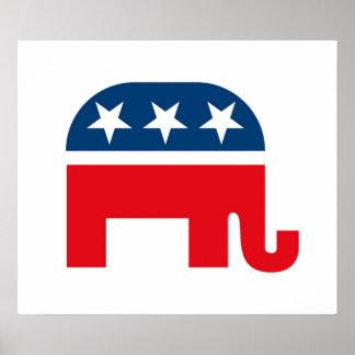 Elefante republicano póster