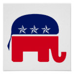 Elefante republicano posters