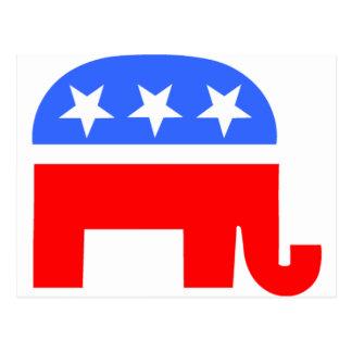 Elefante republicano tarjeta postal