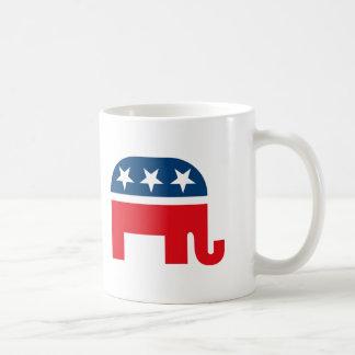 Elefante republicano tazas