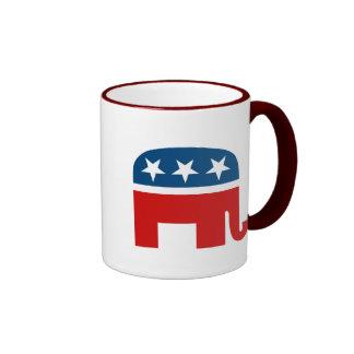 Elefante republicano taza de dos colores