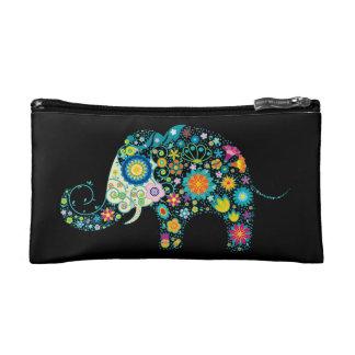 Elefante retro colorido lindo de las flores