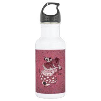 Elefante retro rosado del circo botella de agua