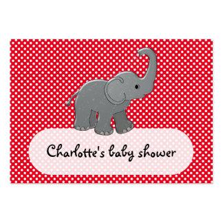 elefante rojo del bebé tarjetas de visita grandes