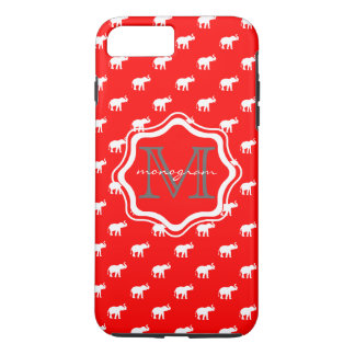 Elefante rojo en polkadot funda iPhone 7 plus