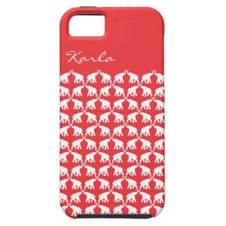 Elefante rojo iPhone 5 Case-Mate cárcasas