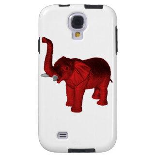 Elefante rojo funda para galaxy s4