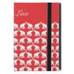 Elefante rojo iPad mini carcasas