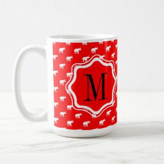 Elefante rojo rojo taza de café