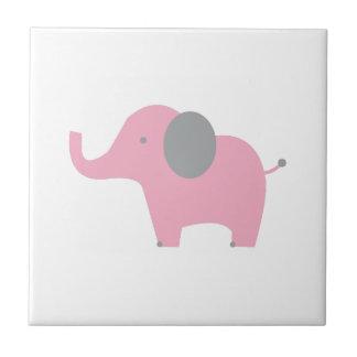 Elefante rosado azulejo cerámica