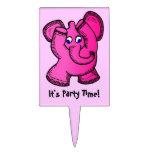 Elefante rosado decoraciones de tartas