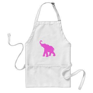 Elefante rosado delantal