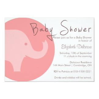 Elefante rosado es una invitación de la fiesta de invitación 12,7 x 17,8 cm