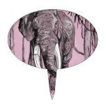 Elefante rosado figuras de tarta