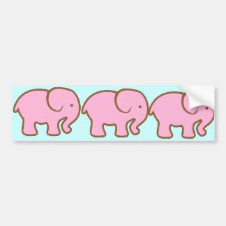 Elefante rosado grande etiqueta de parachoque