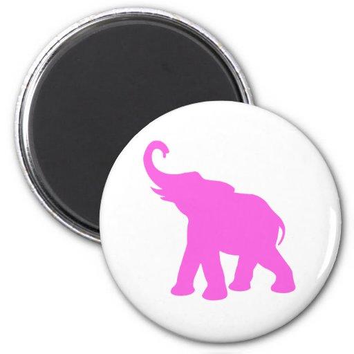 Elefante rosado imán para frigorifico