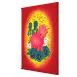 elefante rosado - impresión del cuarto de niños de impresion en lona