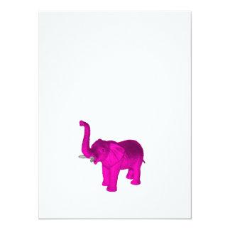Elefante rosado invitación 13,9 x 19,0 cm