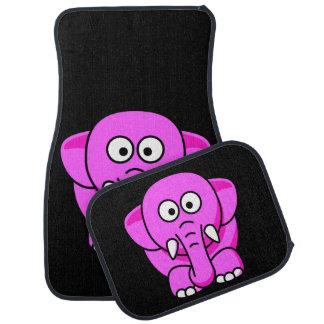 Elefante rosado lindo alfombrilla de auto