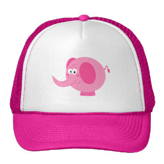 Elefante rosado lindo gorras