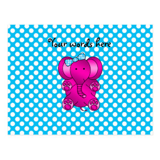 Elefante rosado lindo tarjeta postal