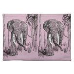 Elefante rosado manteles individuales