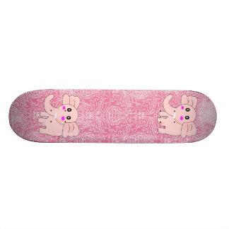 Elefante rosado patin