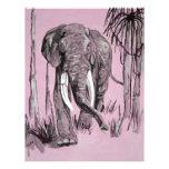 Elefante rosado plantillas de membrete