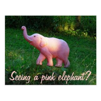Elefante rosado postal