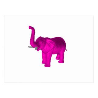 Elefante rosado postales