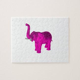 Elefante rosado puzzle