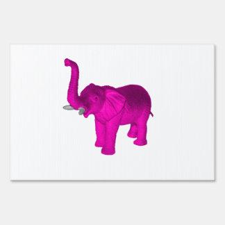 Elefante rosado señales