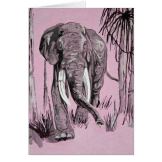 Elefante rosado tarjeta de felicitación
