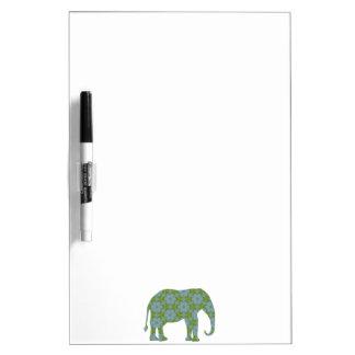 Elefante salvaje floral pizarra