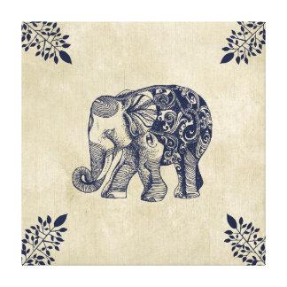 Elefante simple impresion en lona